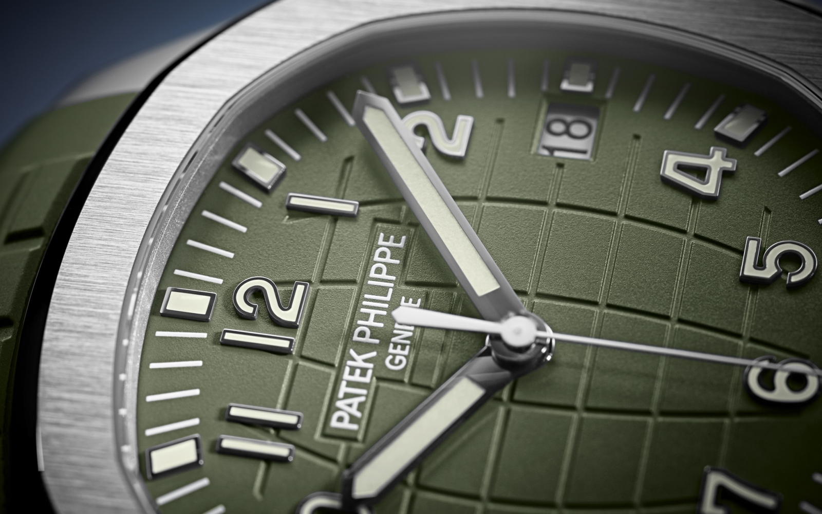 Patek Philippe Aquanaut 5168G Dial Close Up