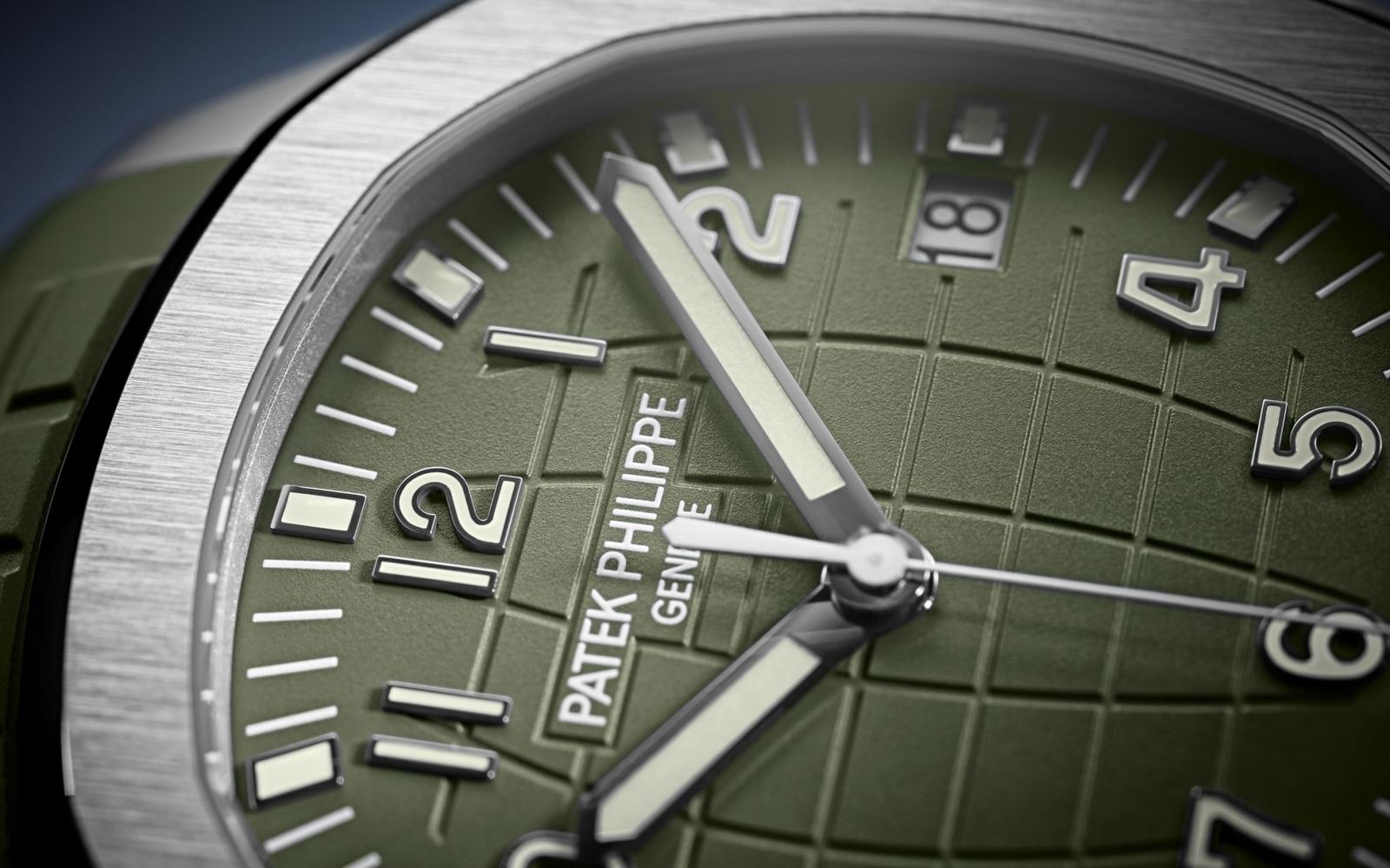 Patek Philippe Aquanaut 5168G Dial Close Up