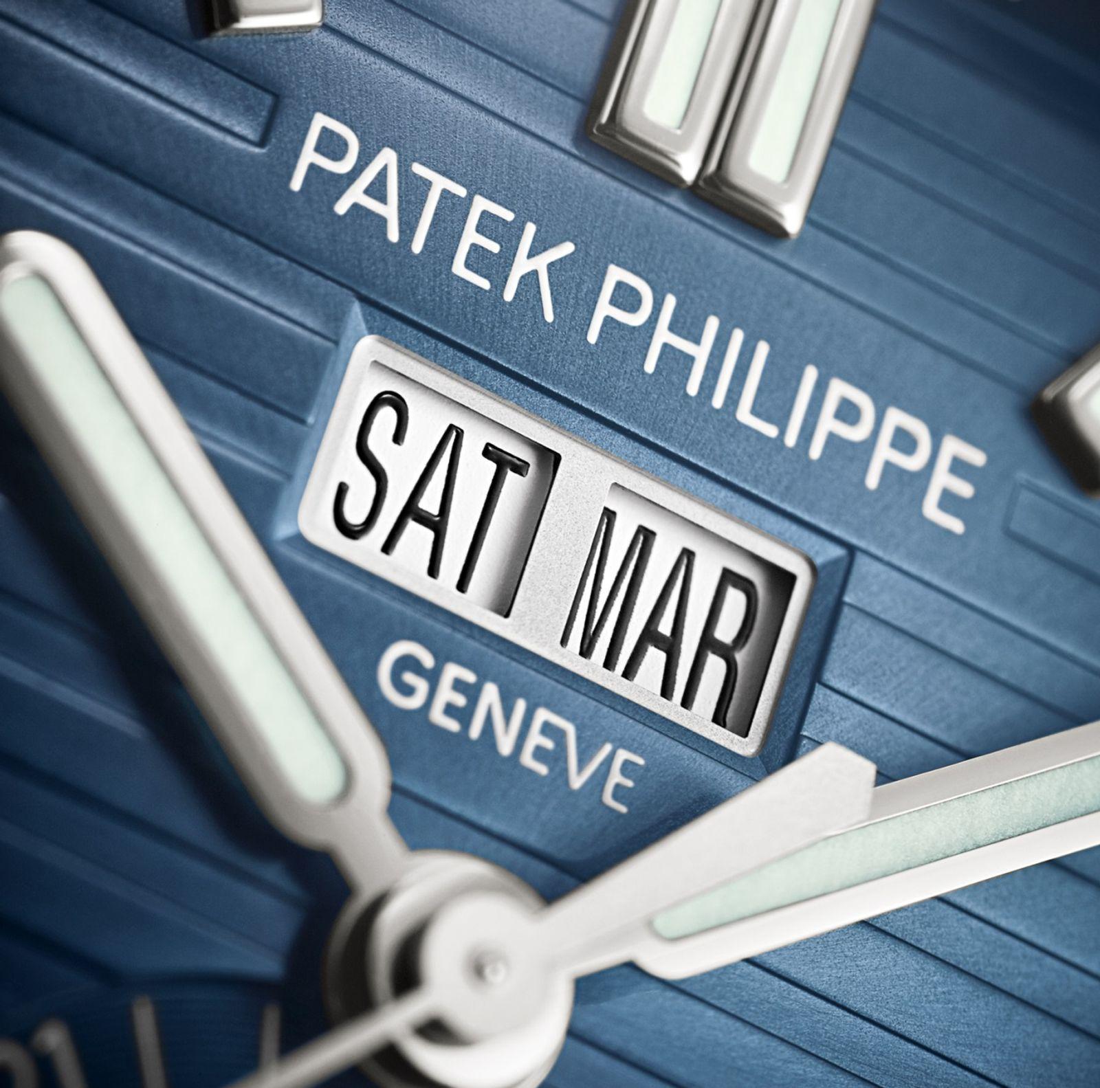 Patek Philippe Nautilus Annual Calendar Ref 5726-1A Day Month Indicator