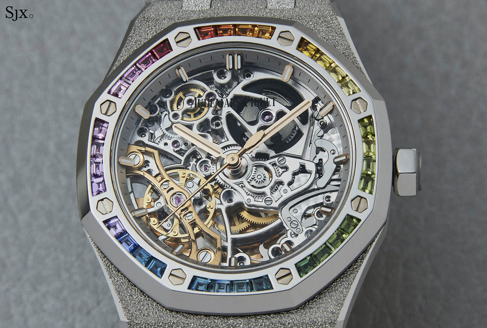 Audemars Piguet Frosted Gold Royal Oak Double Balance Wheel Openworked Rainbow 2