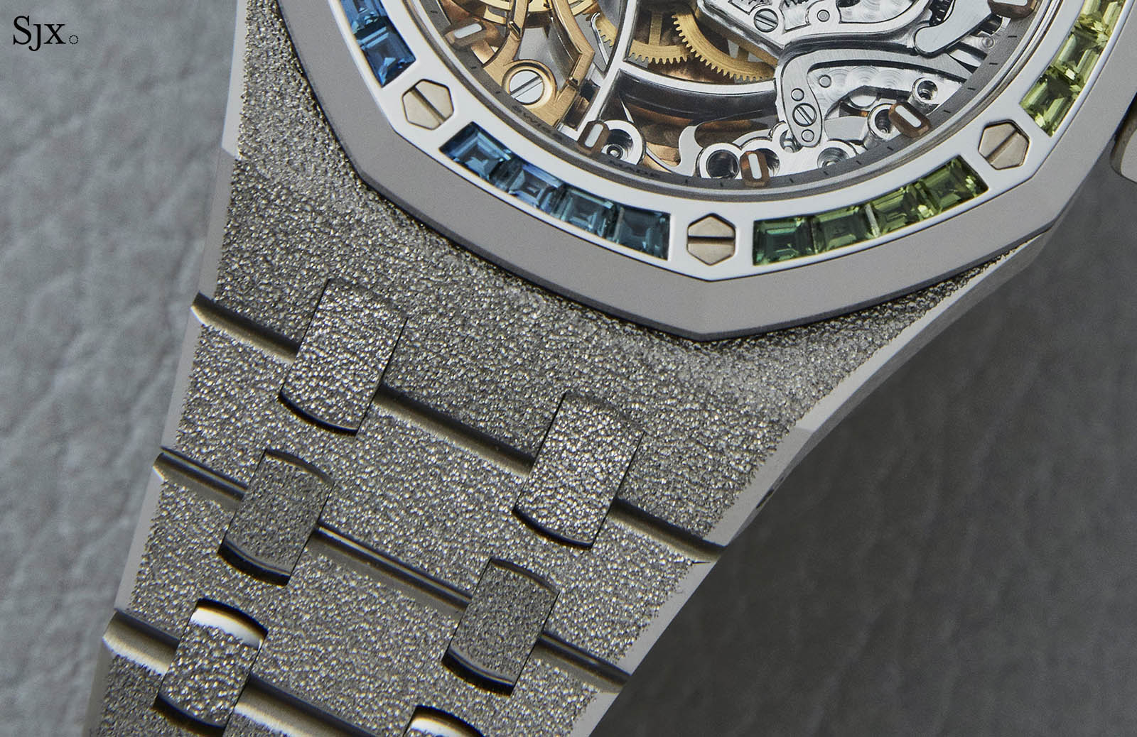 Audemars Piguet Frosted Gold Royal Oak Double Balance Wheel Openworked Rainbow 4