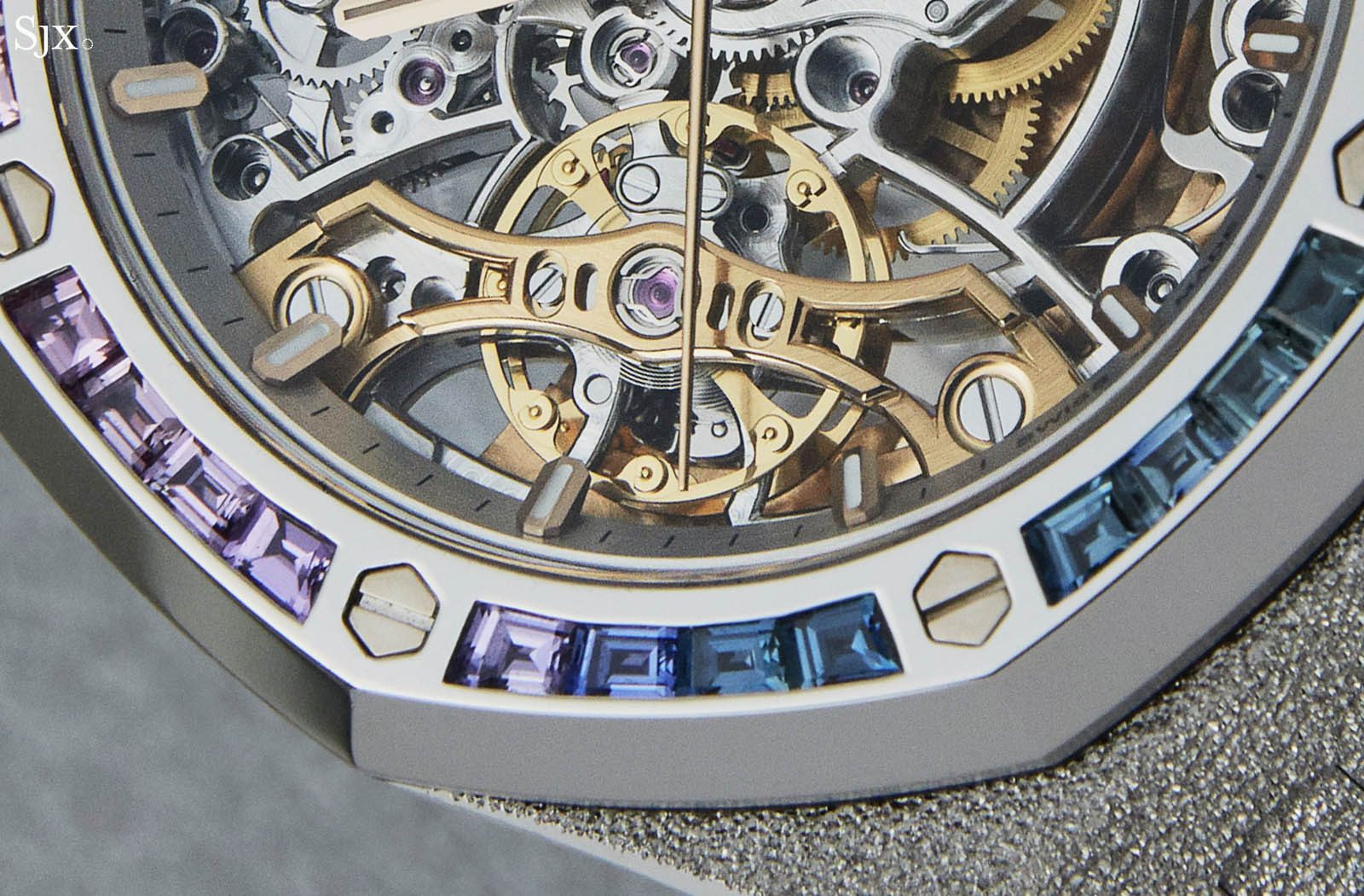 Audemars Piguet Frosted Gold Royal Oak Double Balance Wheel Openworked Rainbow 5