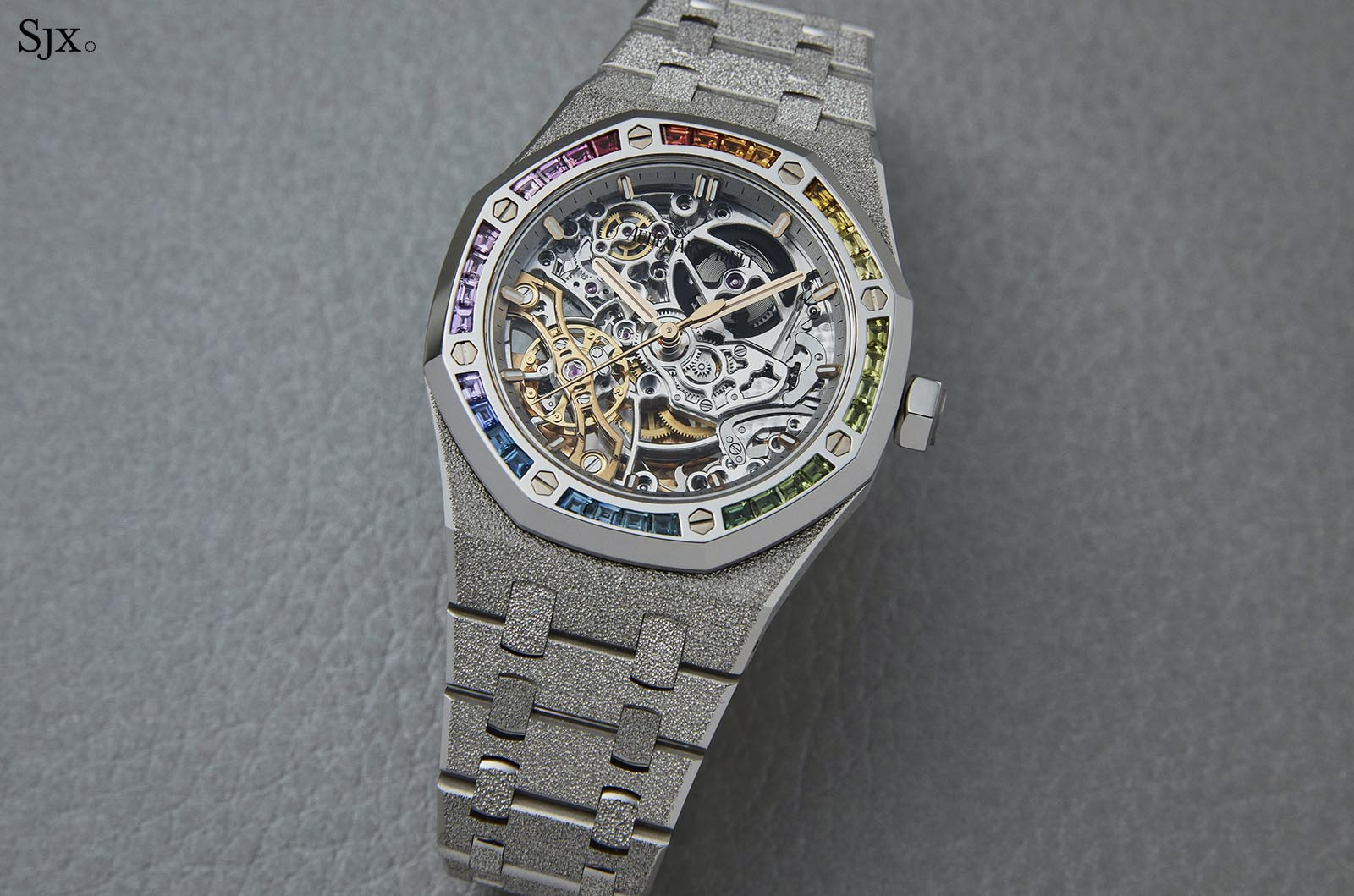 Audemars Piguet Frosted Gold Royal Oak Double Balance Wheel Openworked Rainbow