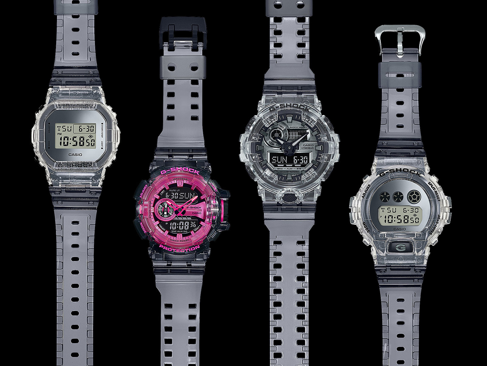 G shock Clear Skeleton Series