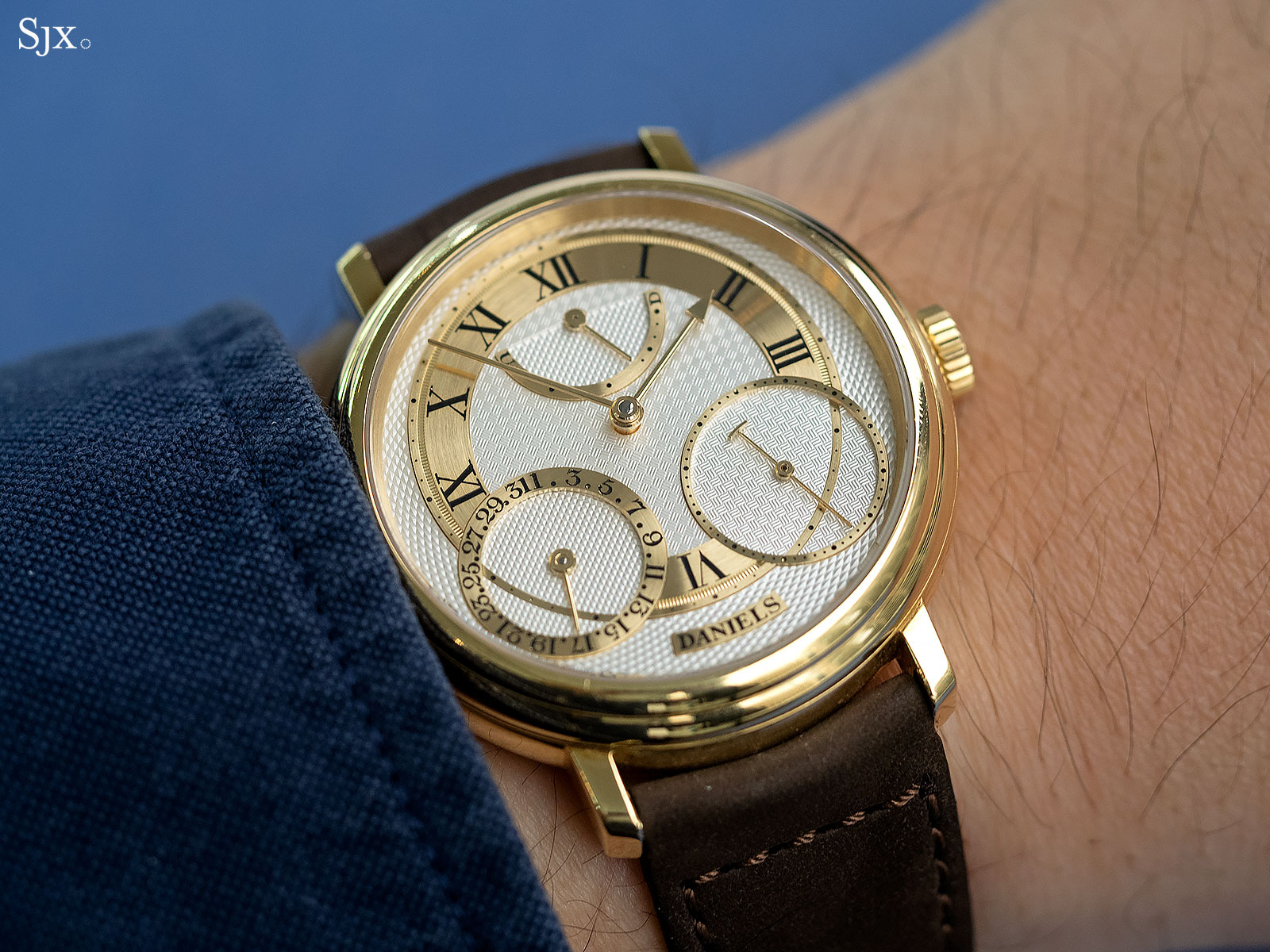 George Daniels Anniversary Watch yellow gold no24 16