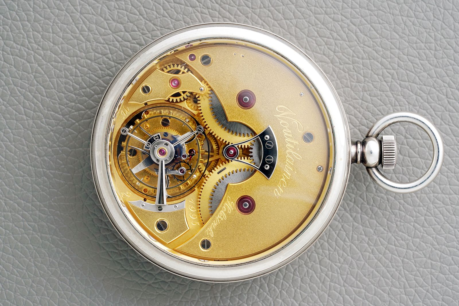 Kari Voutilainen's first tourbillon pocket watch prototype movement view