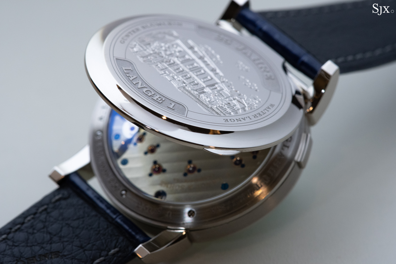 Lange 1 25th Anniversary hunter case back open 2