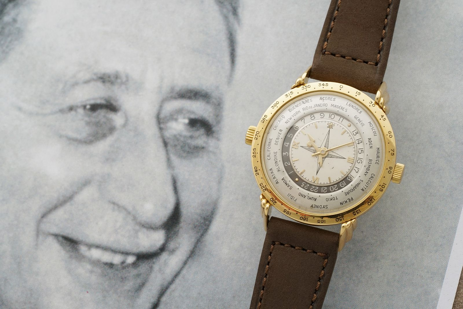 Louis Cottier and his Two Crown Worldtimer wristwatch prototype