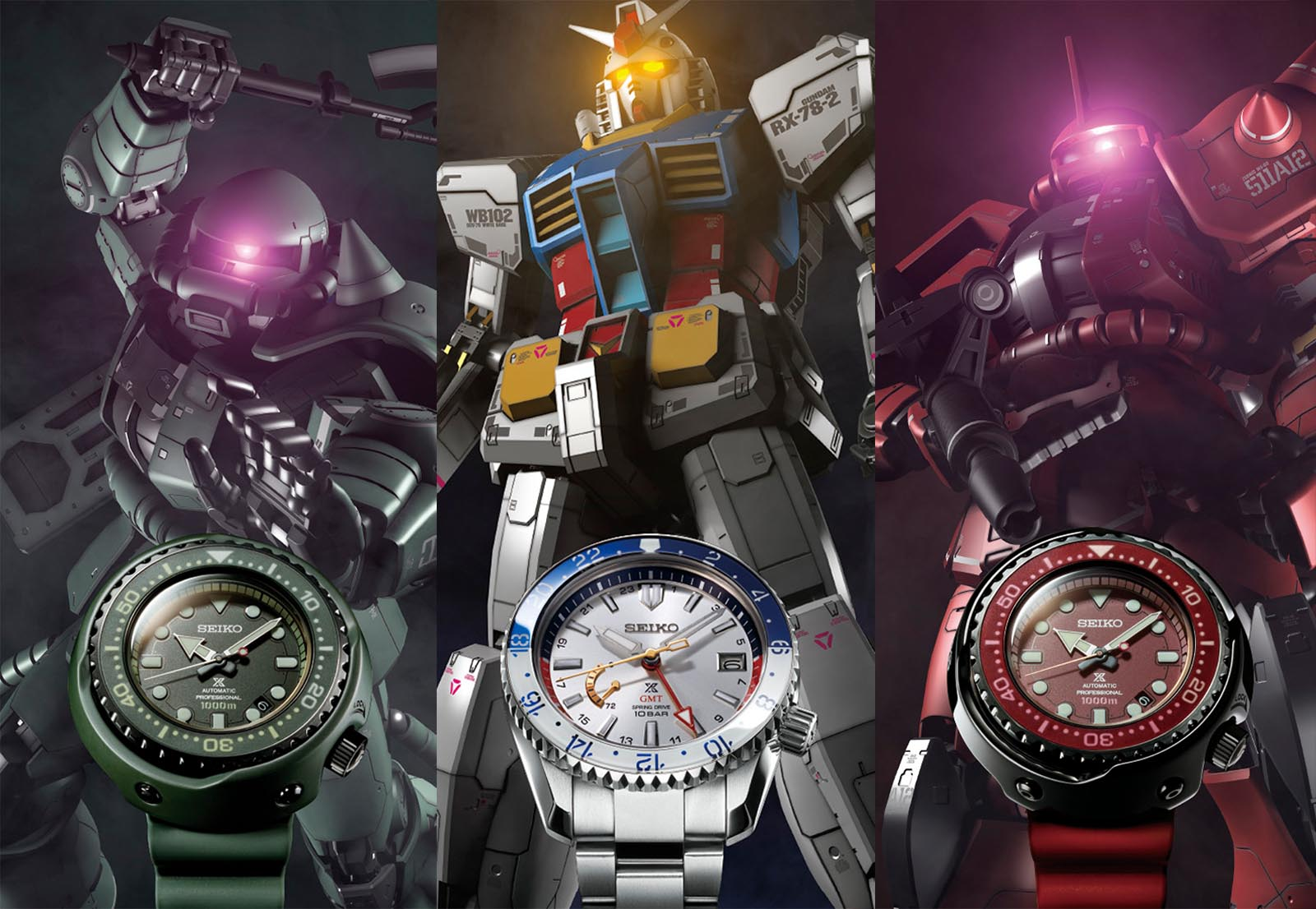 Seiko Mobile Suit Gundam 40th Anniversary Limited Editions