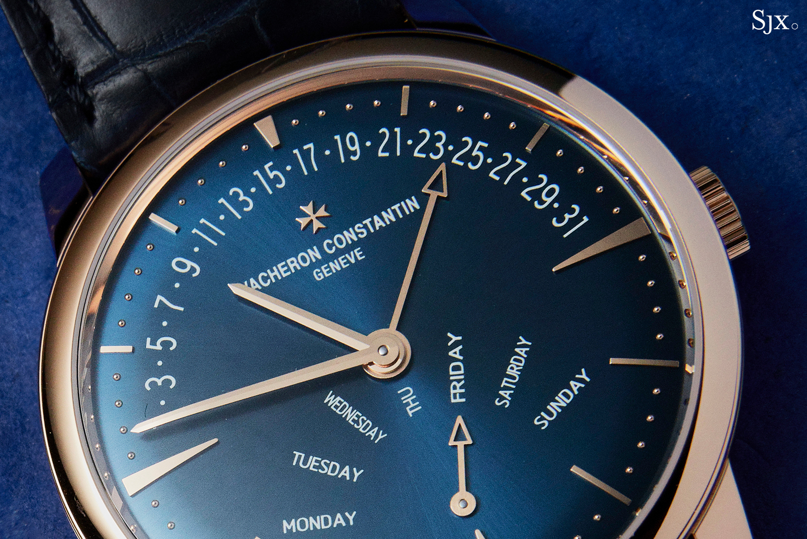 Vacheron Constantin Patrimony Retrograde Day Date dial 2