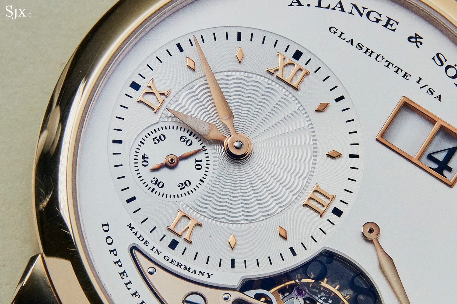 A Lange & Söhne Lange 1 Tourbillon in Honey Gold dial