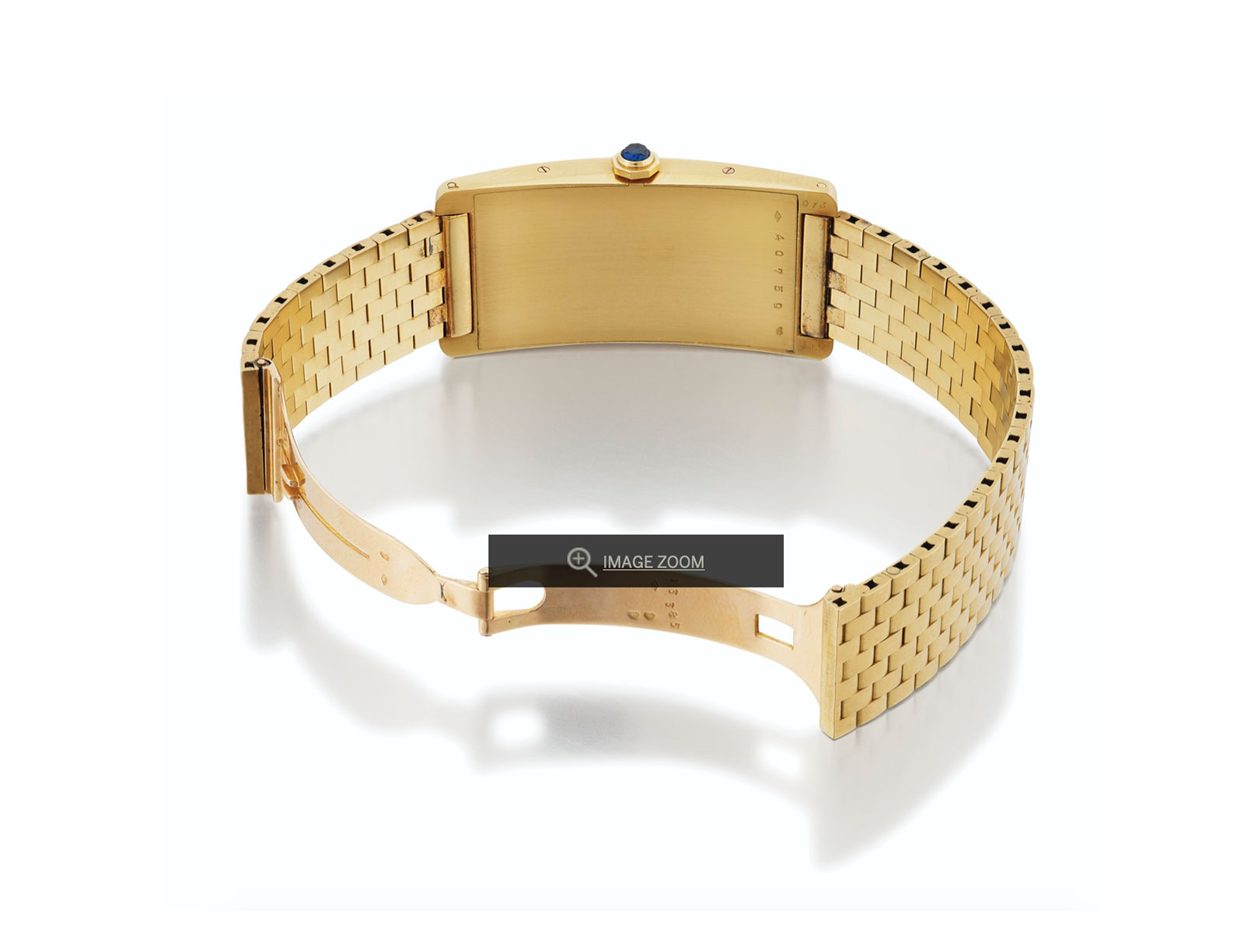Cartier tank Cintree yellow gold sothebys