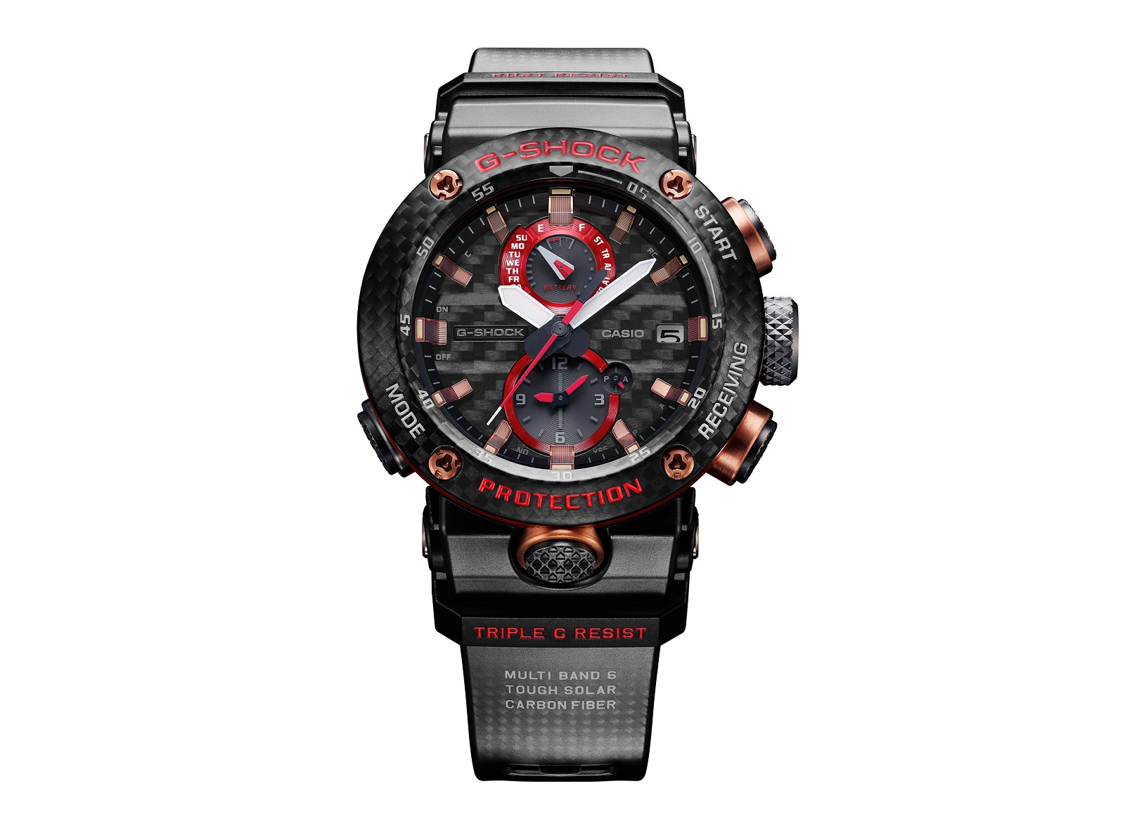The limited edition GWR-B1000X sees the brand's red in its accents instead