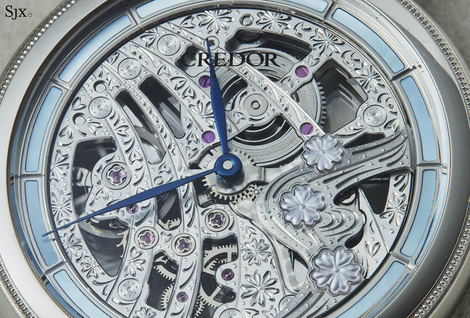 Credor 40th Anniversary Signo Cherry Blossoms Skeleton 1