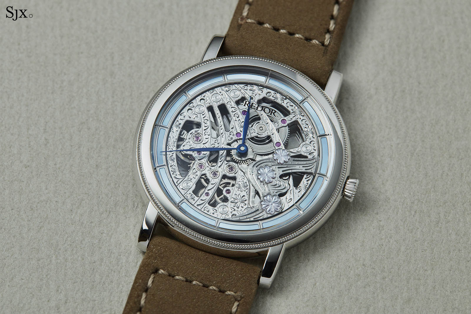 Credor 40th Anniversary Signo Cherry Blossoms Skeleton
