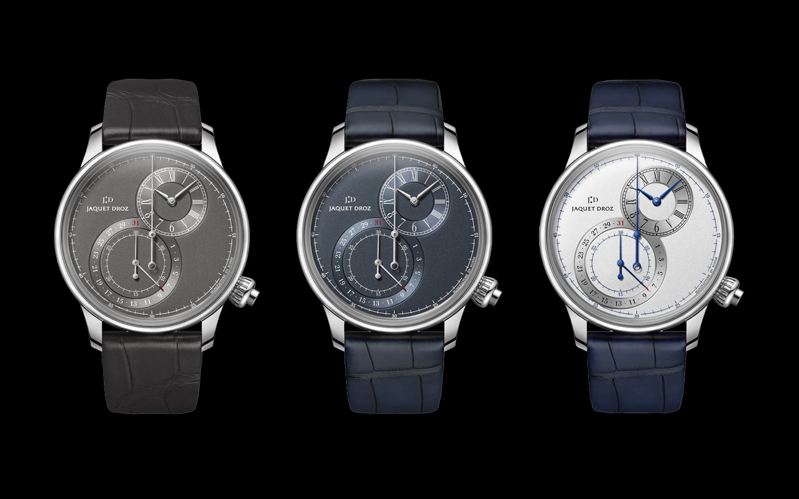 Jaquet Droz Grande Seconde Chronograph Off Centred all three black
