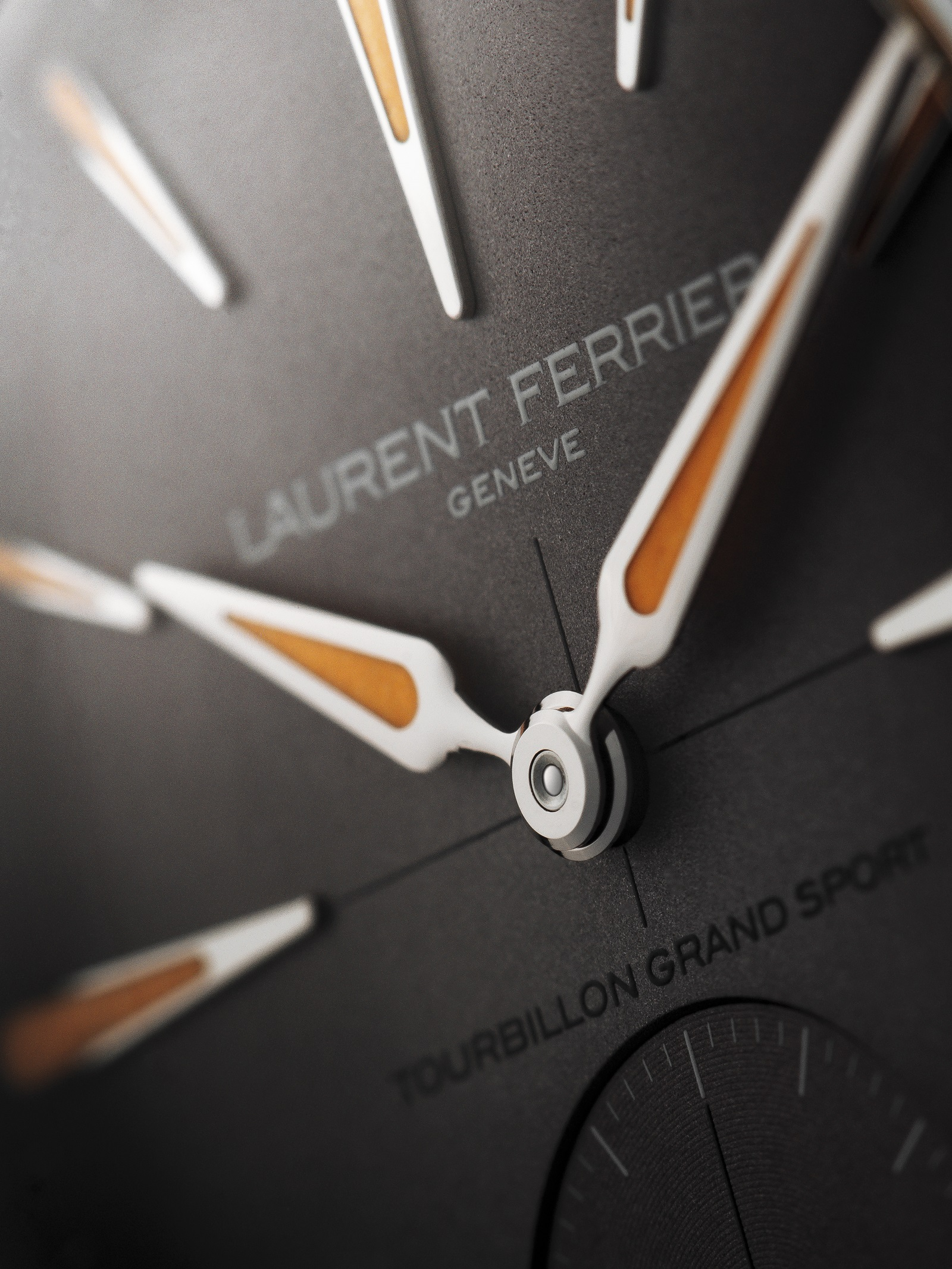 Laurent Ferrier Tourbillon Grand Sport dial close up