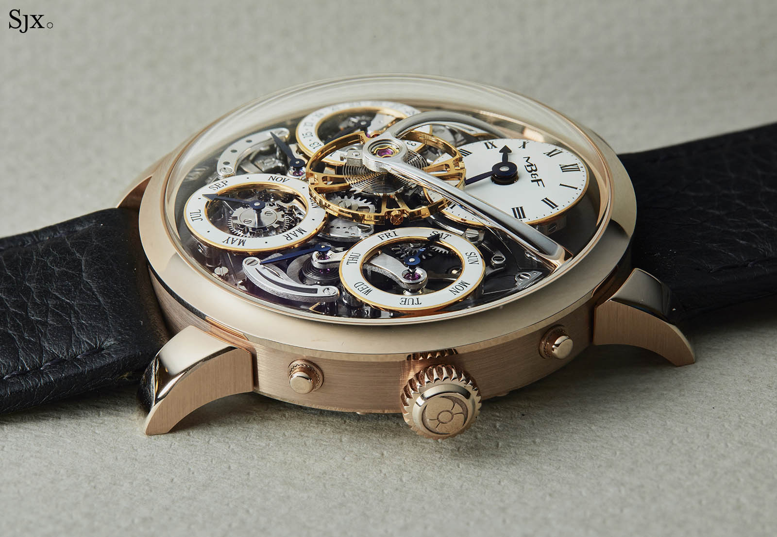 MB&F Legacy Machine Perpetual pink gold 2