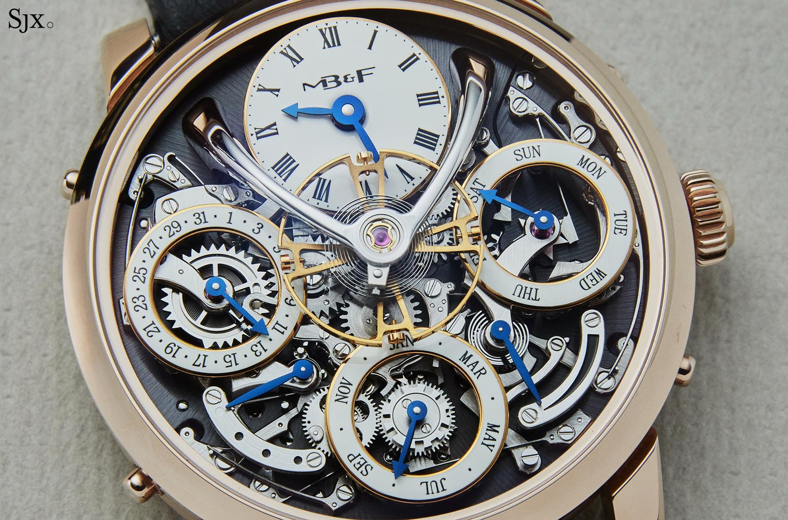 MB&F Legacy Machine Perpetual pink gold 5