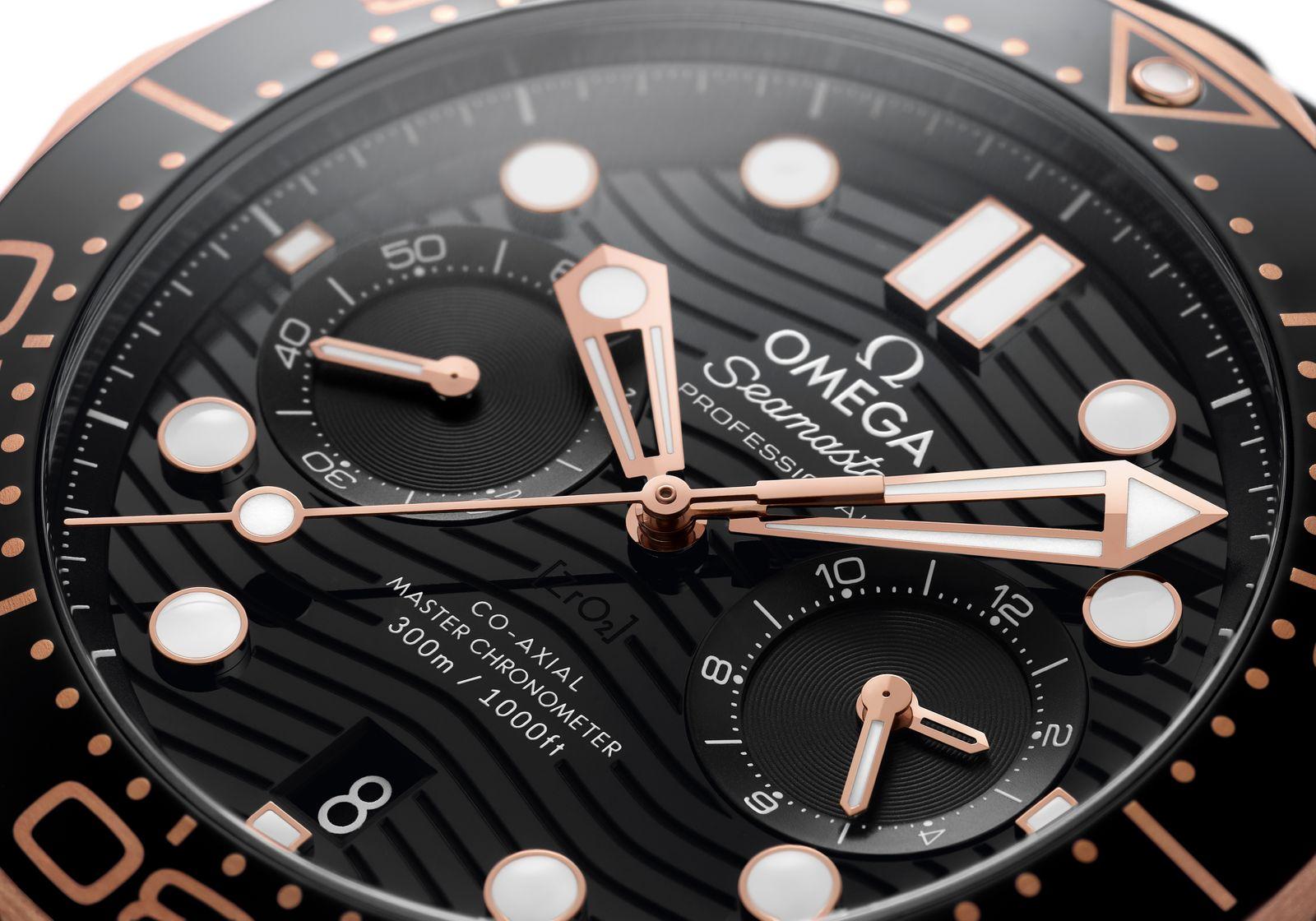 Omega Seamaster Diver 300M Chronograph Sedna Steel 3
