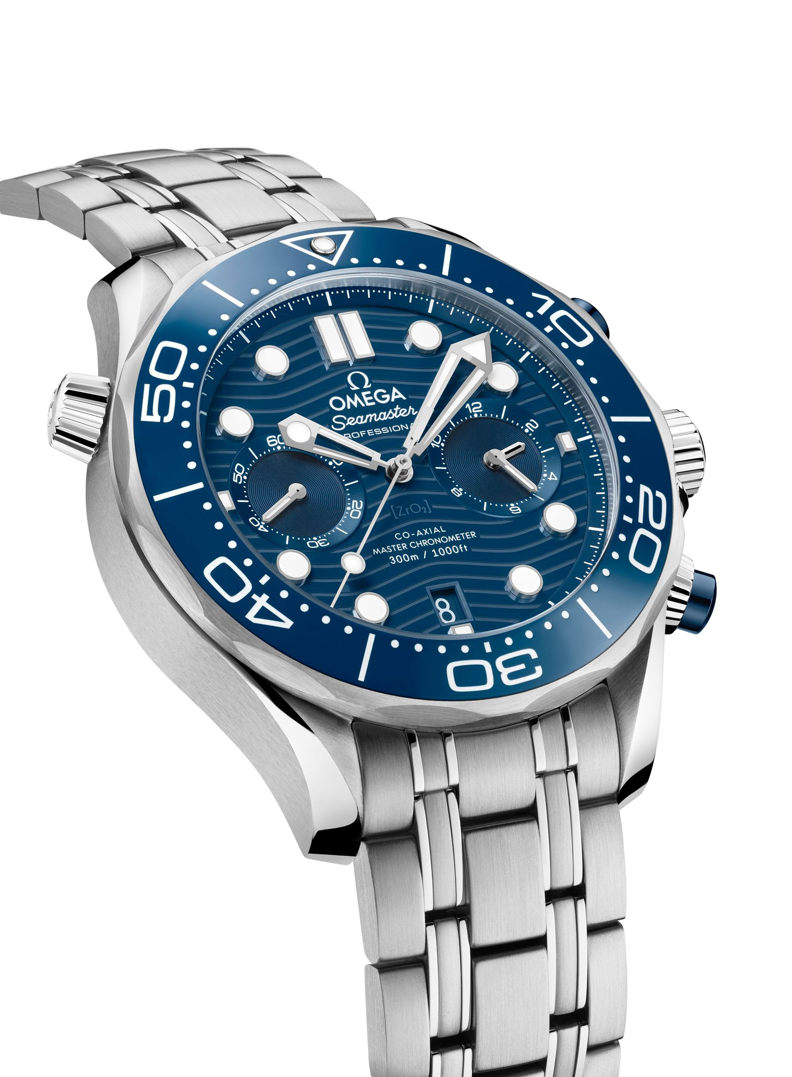 Omega Seamaster Diver 300M Chronograph Steel and Blue ceramic 1