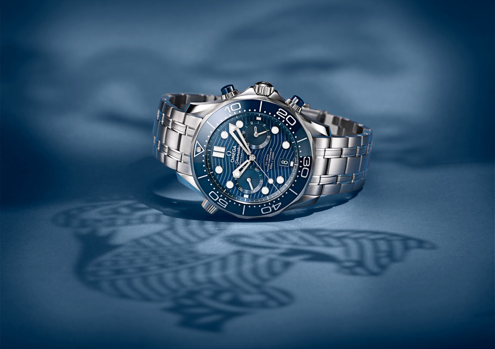 Omega Seamaster Diver 300M Chronograph Steel and Blue ceramic 2