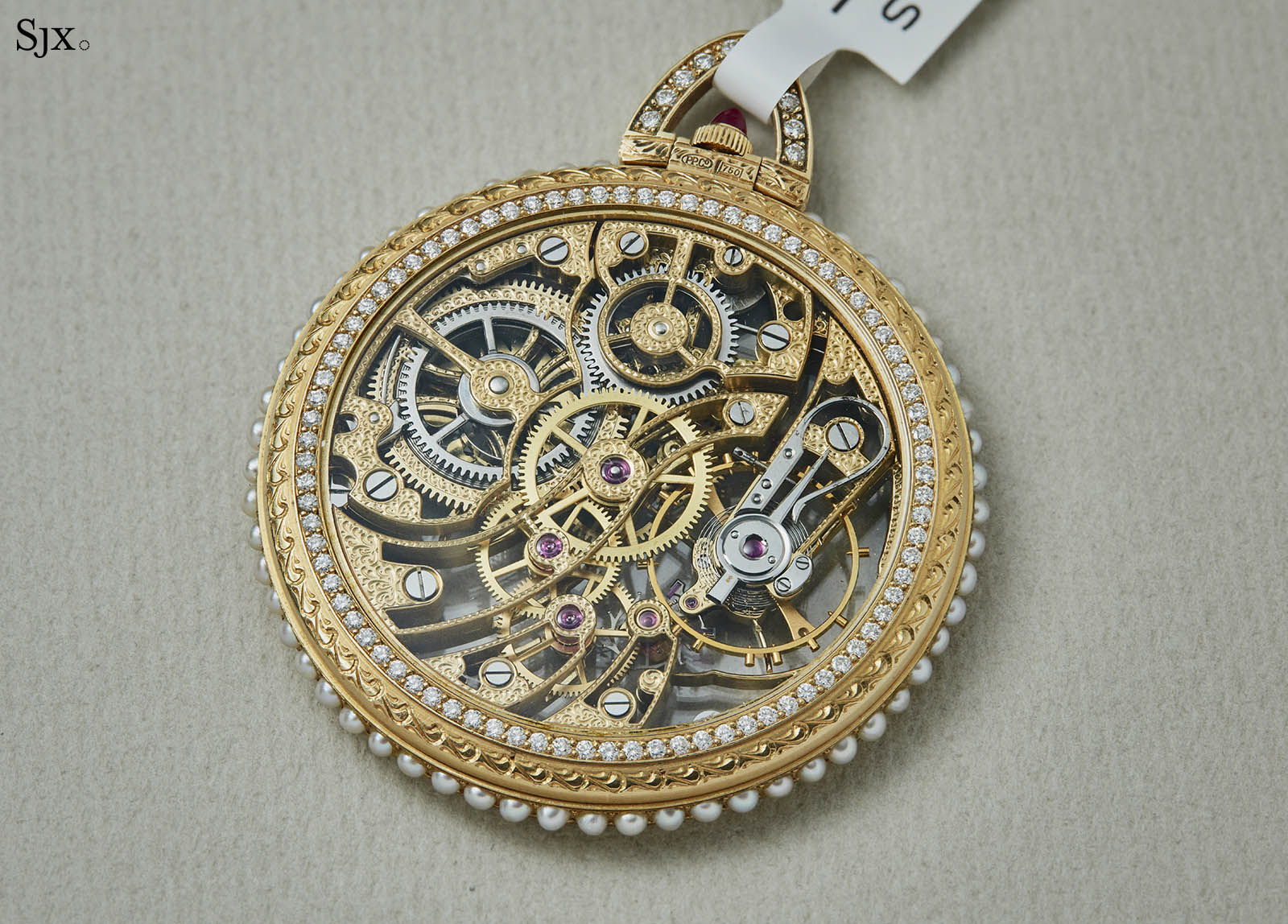 Patek Philippe Yellow Gold Skeleton Pocket Watch 5