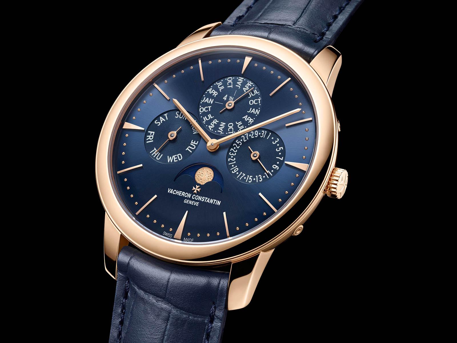 Vacheron Constantin Patrimony Perpetual Calendar Ultra-Thin Blue dial 3