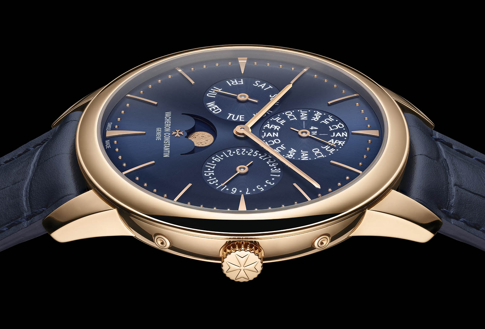 Patrimony Perpetual Calendar Ultra-thin blue dial