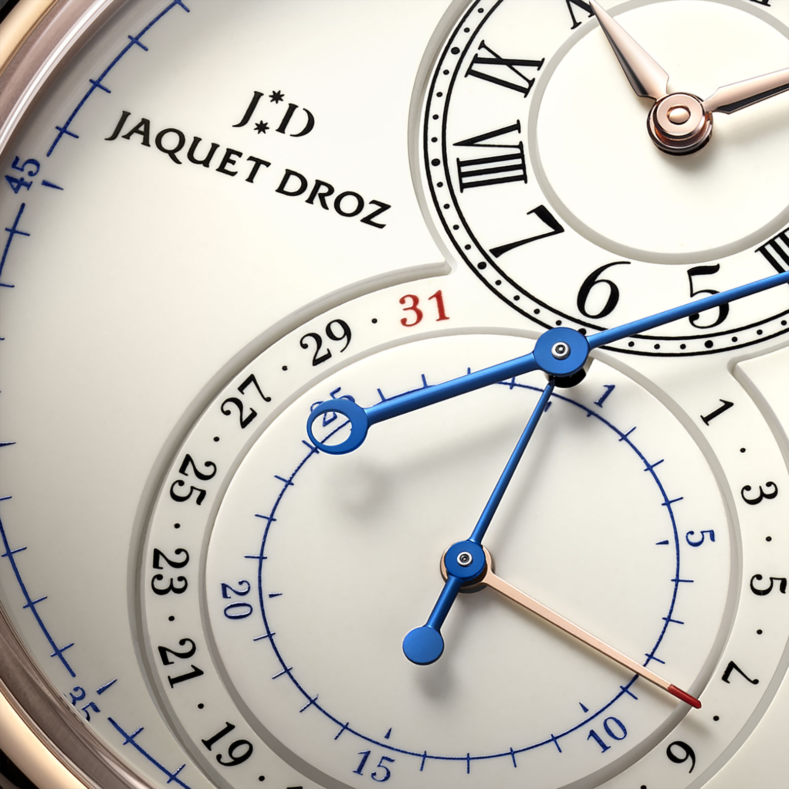 jaquet droz grande seconde chronograph gold enamel
