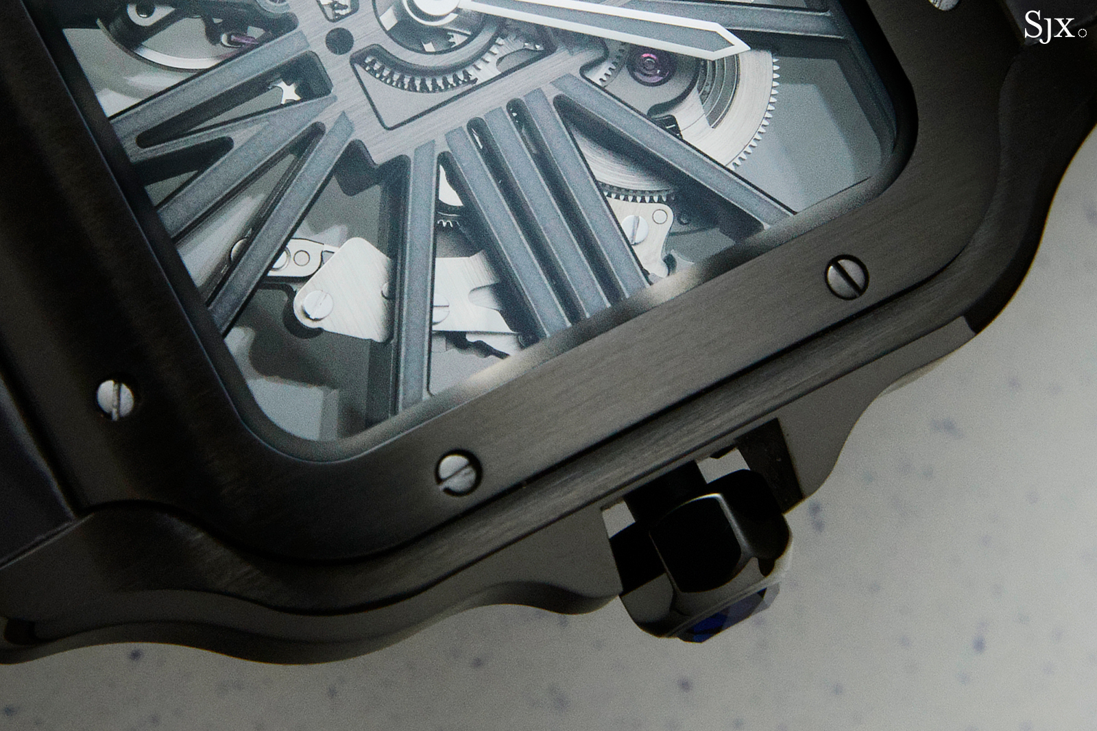 "Cartier Santos Skeleton ADLC ""Noctambule"" side 1"