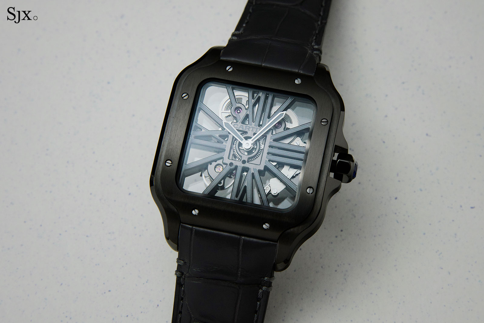 Cartier Santos Skeleton ADLC Noctambule watch 1