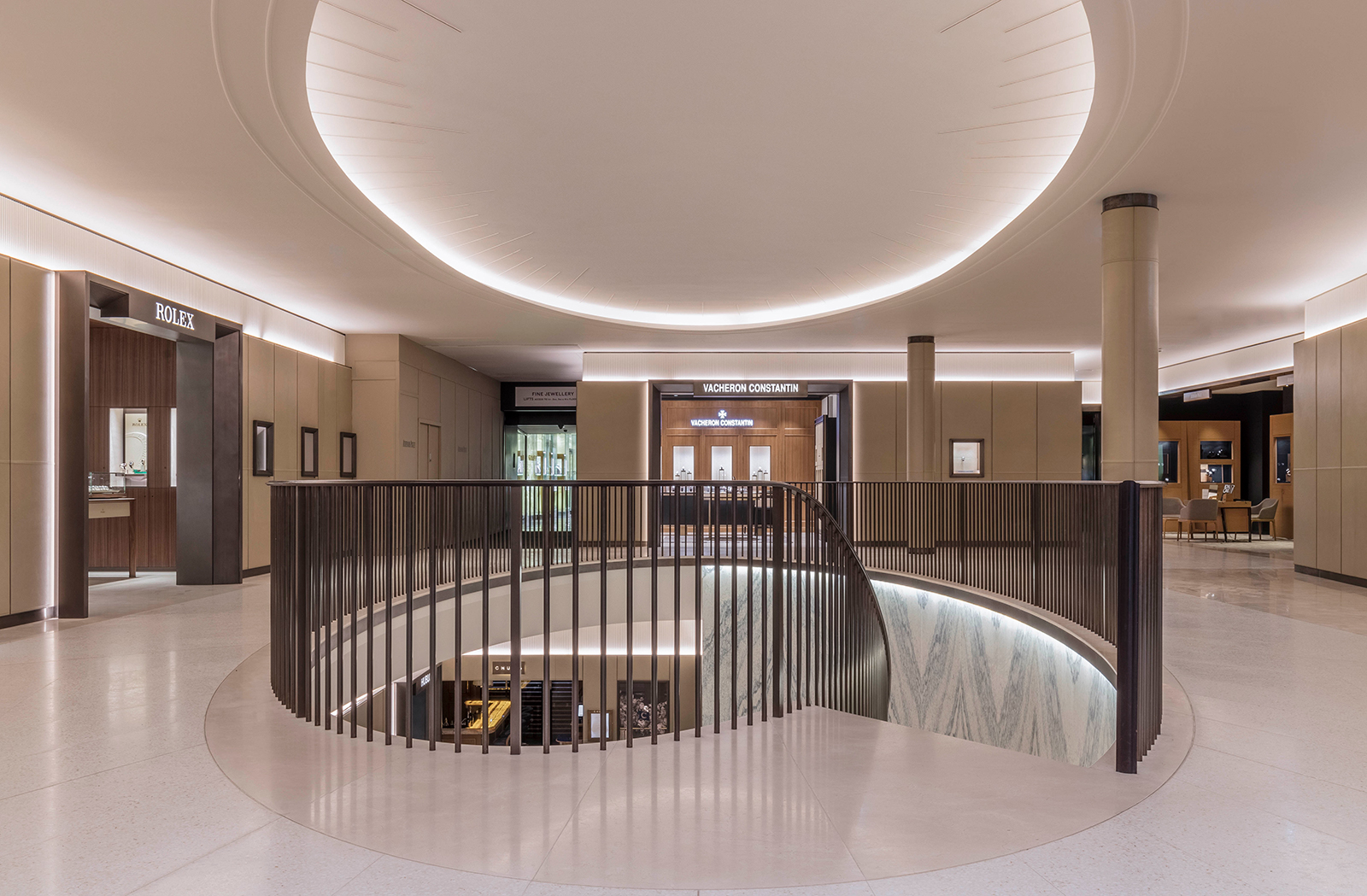 The new Fine Watch Room at Harrods. Photo - Rundell Associates