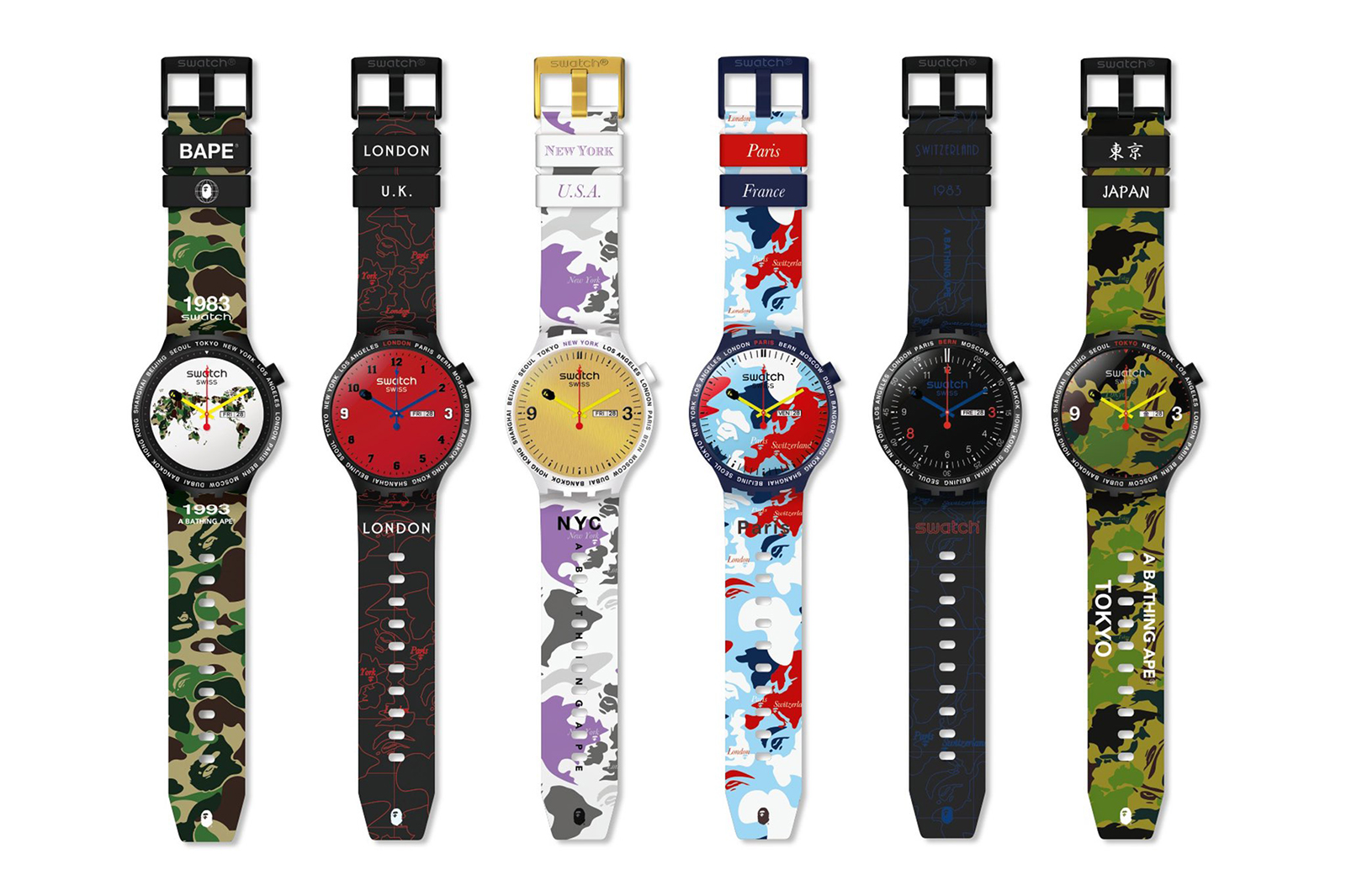 Swatch BAPE Big Bold - Cities 1
