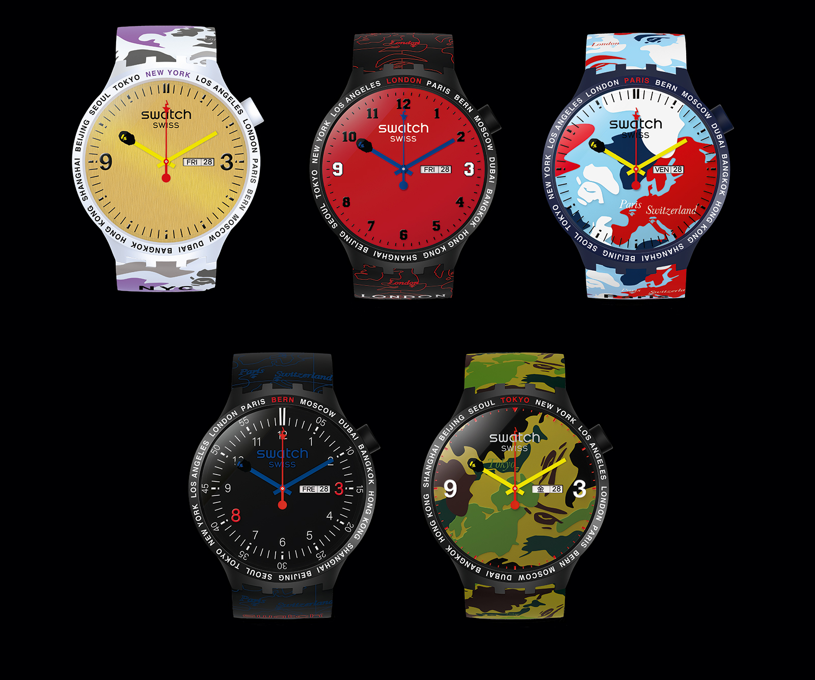 Swatch Big Bold Bape - All Cities