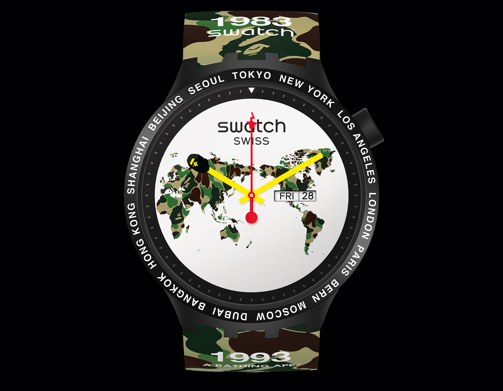 Swatch Big Bold Bape The World