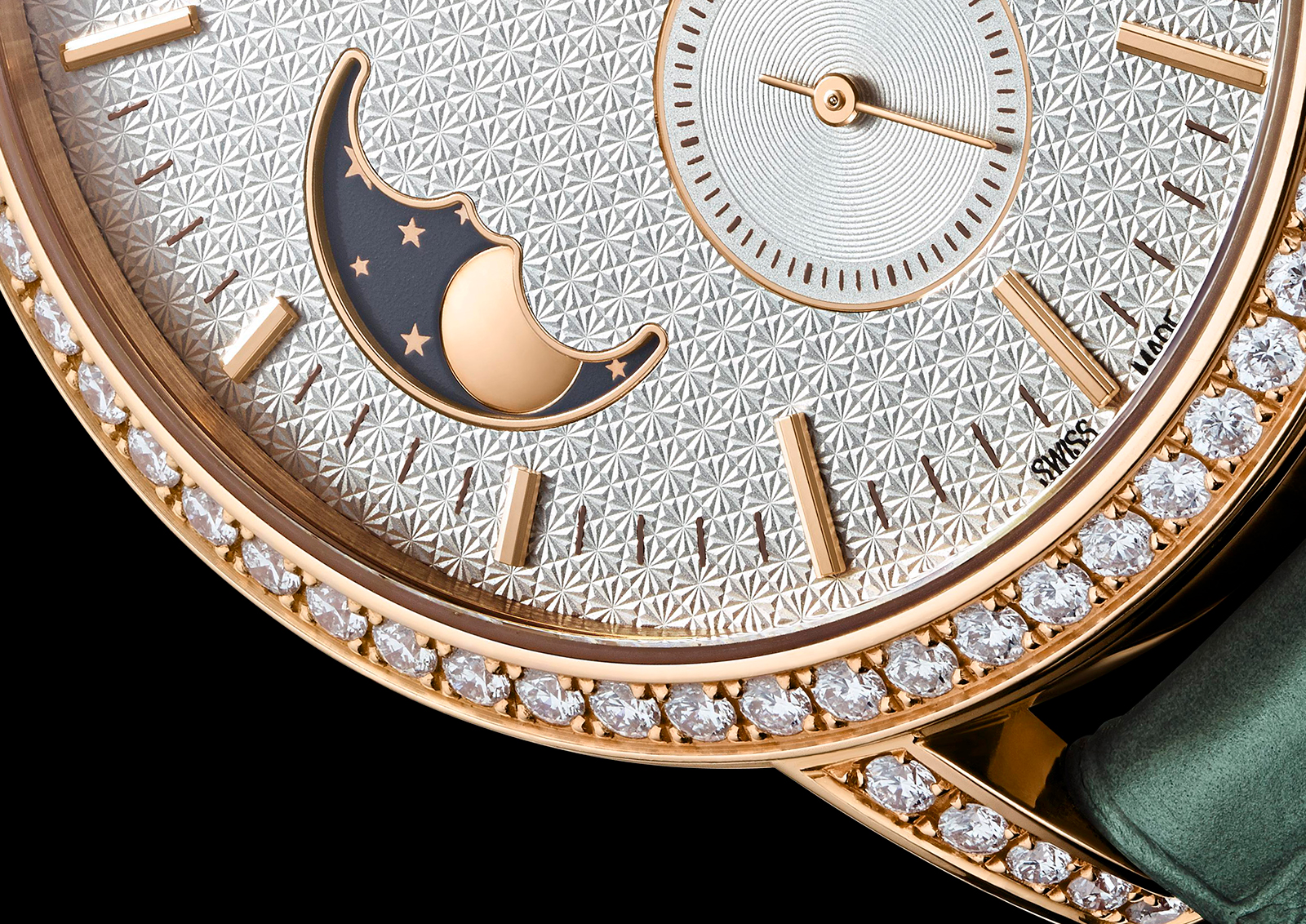 Vacheron Constantin Traditionnelle Moonphase dial close up