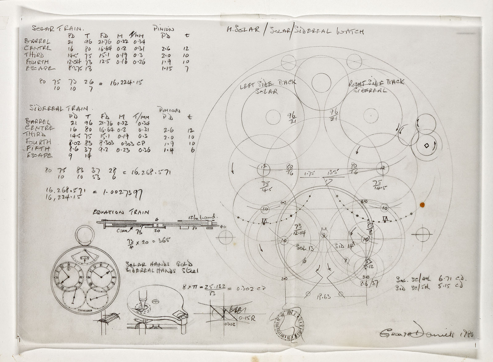 george daniels space traveller calculation