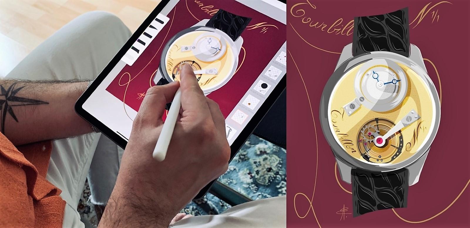 Commissioning Watch Art - Alex Eisenzammer Remy Cools Tourbillon