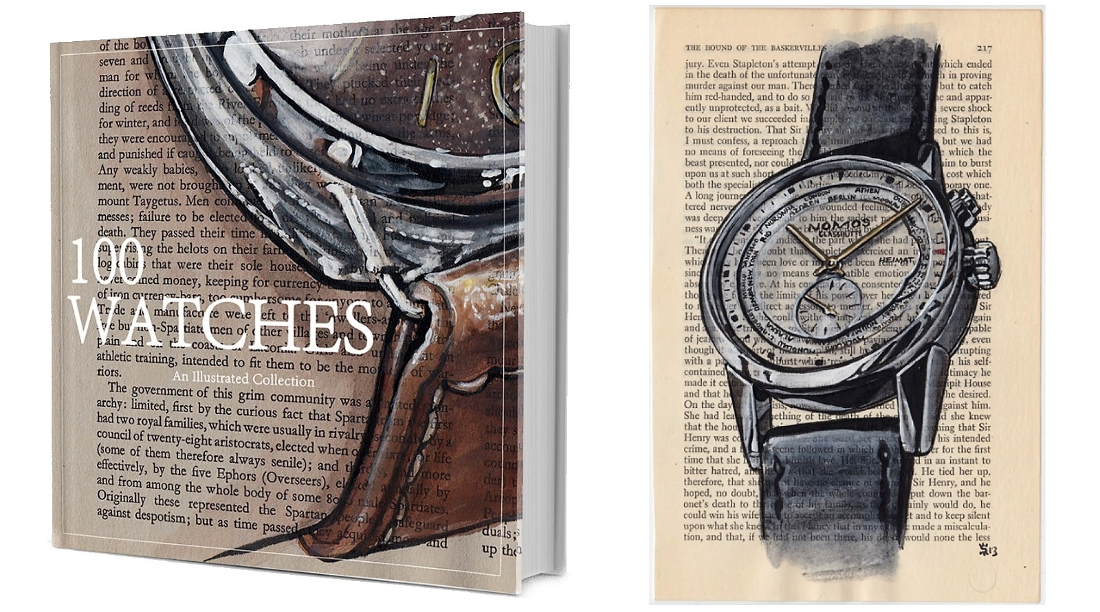 Matthew Miller's 100 Watches book. Photo - Matthew Miller/@sunflowerman