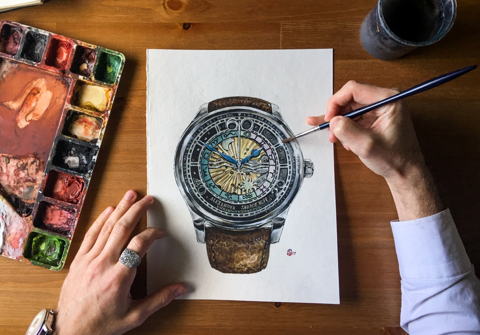 Commissioning Watch Art -Matthew Miller_Studio Art