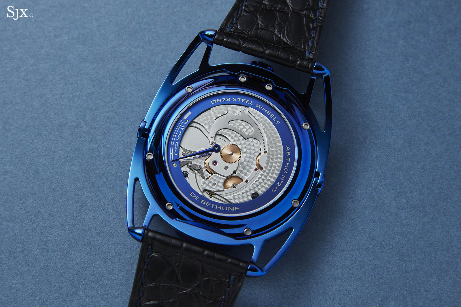 De Bethune DB28 Steel Wheels Blue The Hour Glass Edition 6