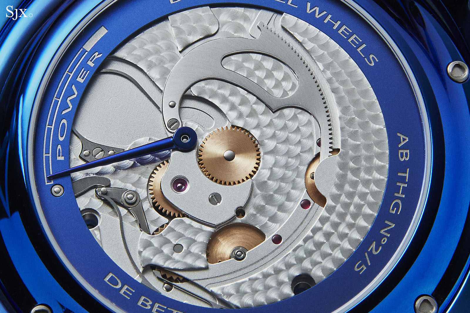 De Bethune DB28 Steel Wheels Blue The Hour Glass Edition 7