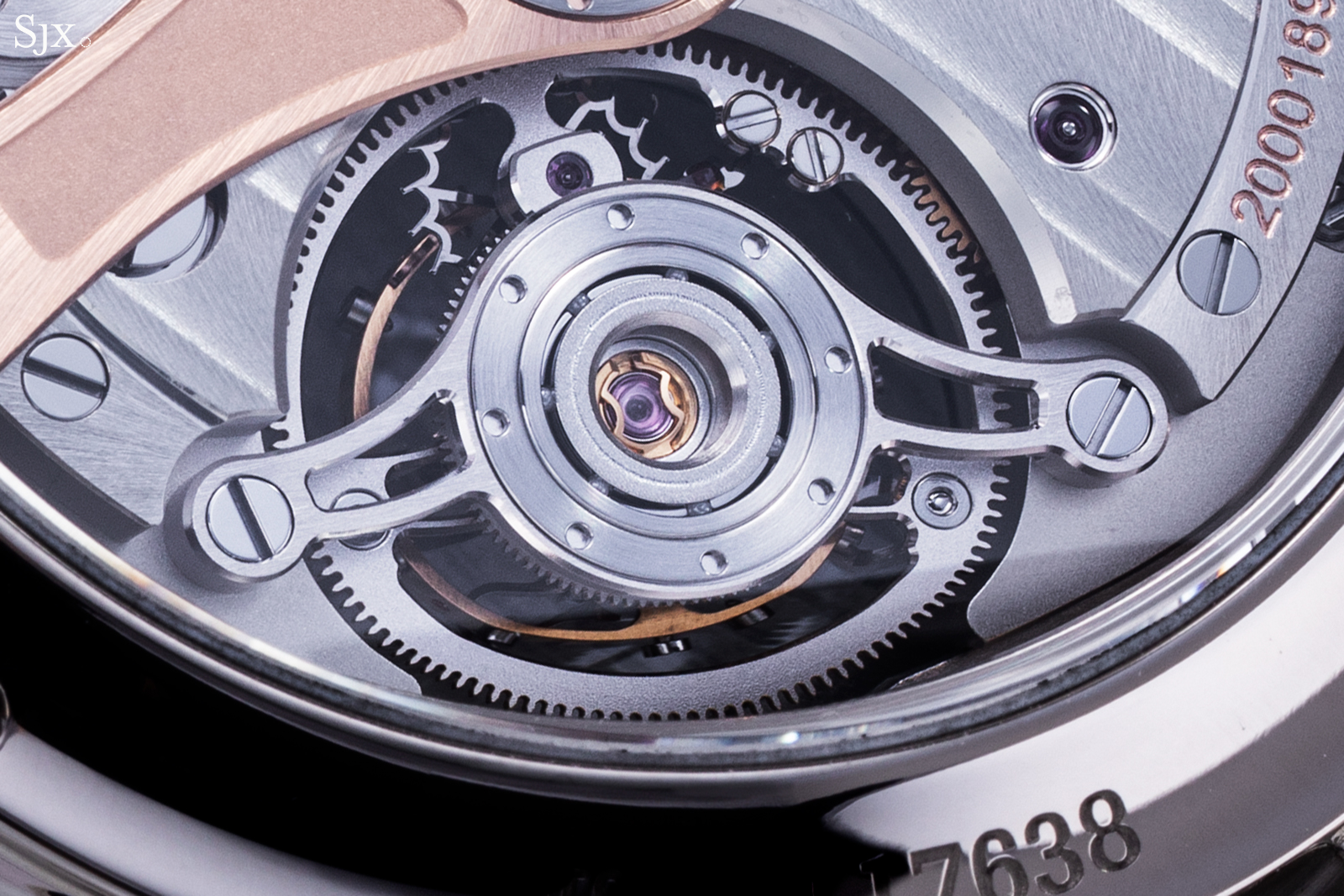 H. Moser & Cie Endeavour Tourbillon Cosmic Green back close up
