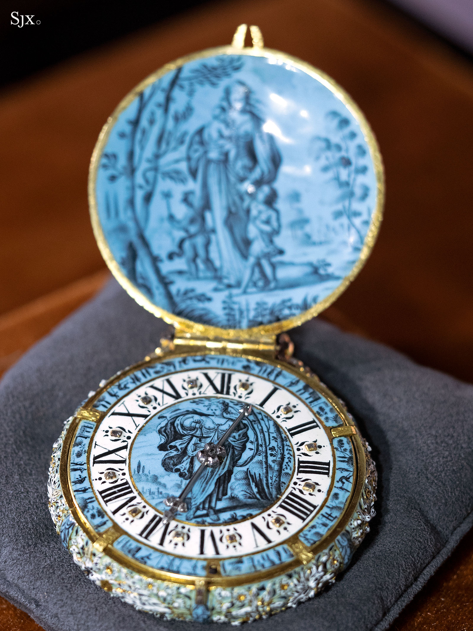 Jehan Cremsdorff enamel verge watch 1650-5