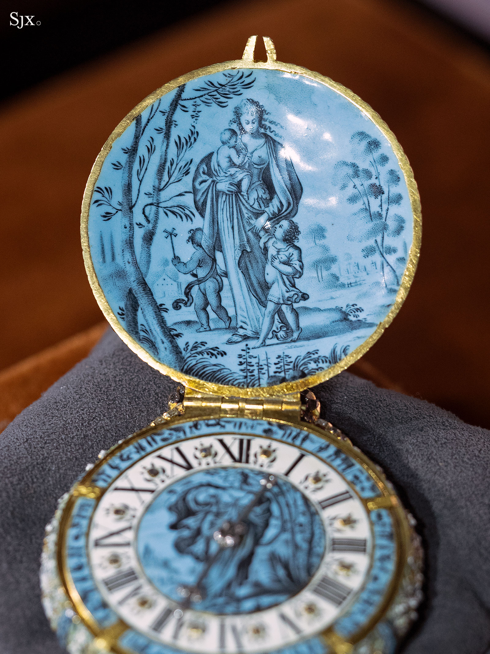 Jehan Cremsdorff enamel verge watch 1650-6