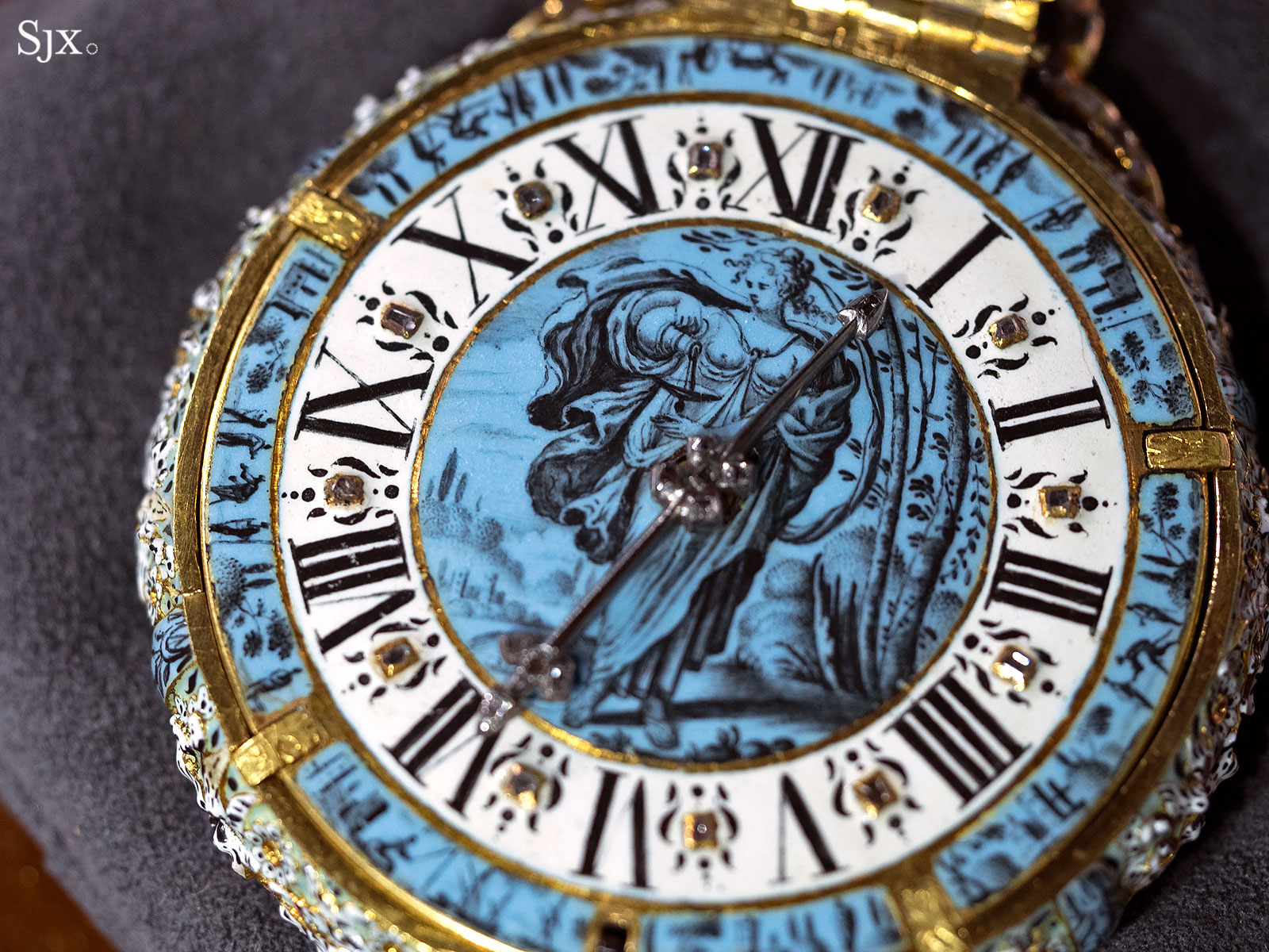 Jehan Cremsdorff enamel verge watch 1650-7