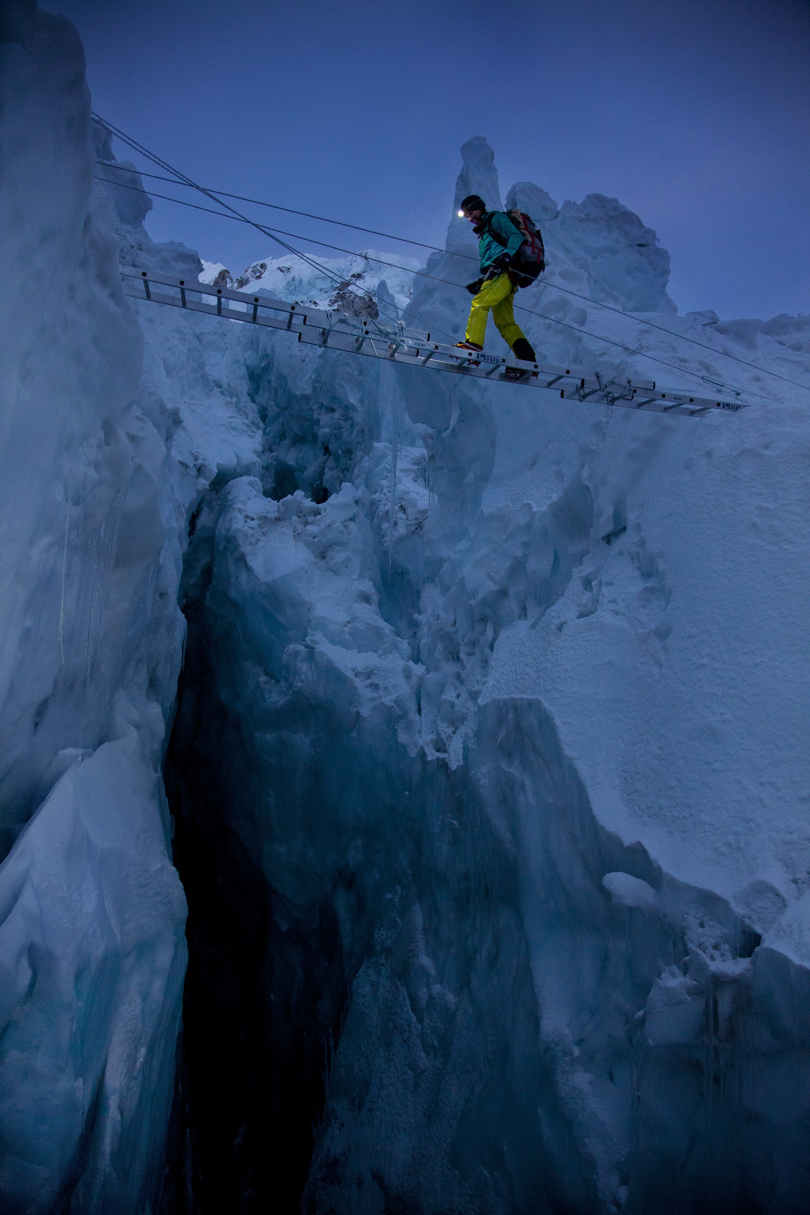 The Perpetual Planet expedition at Khumbu Icefall, Mount Everest. Photo - Rolex