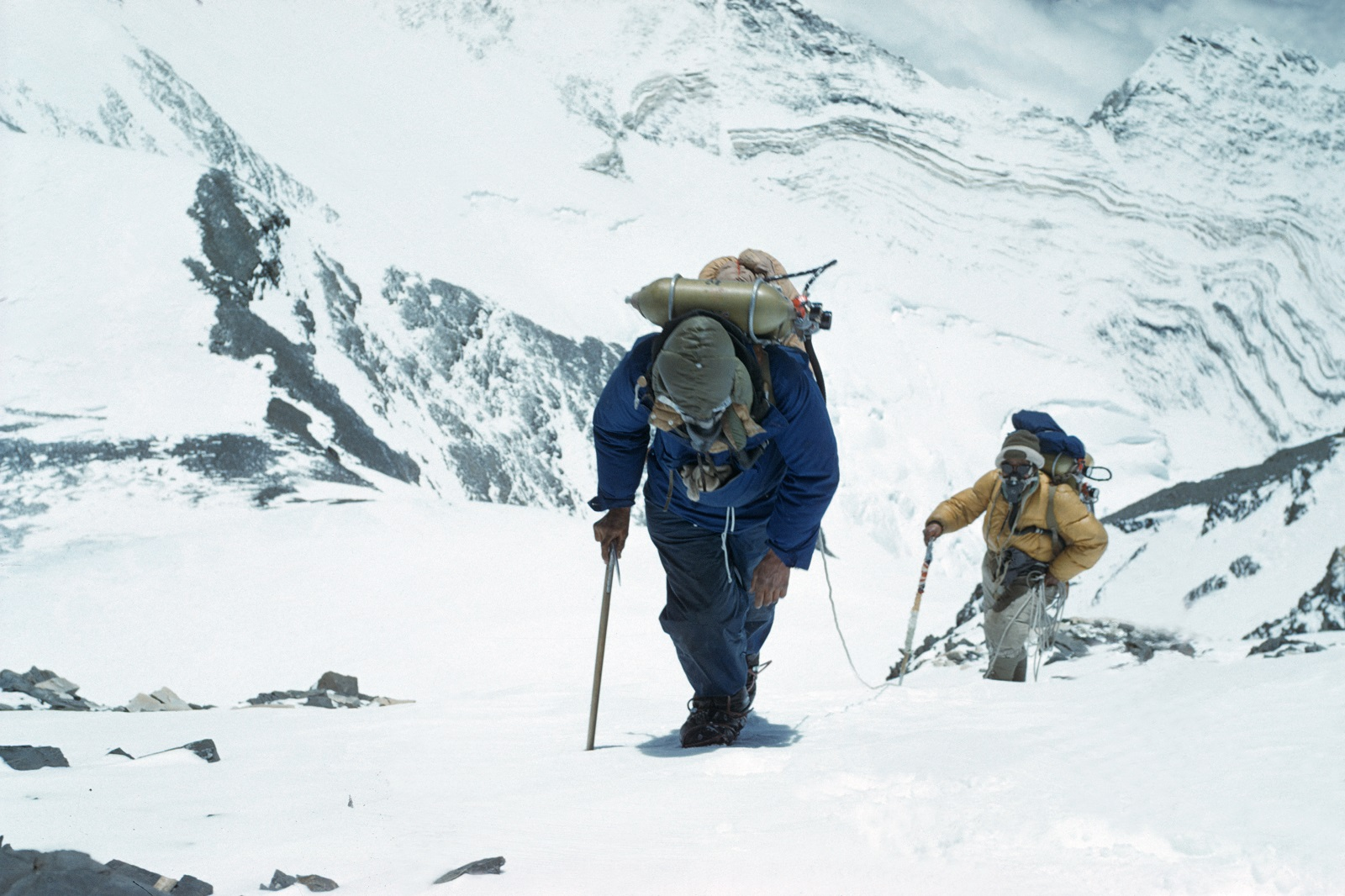 Sir Edmund Hillary and Tenzing Norgay climbing Mount Everest in 1953. Photo - Rolex