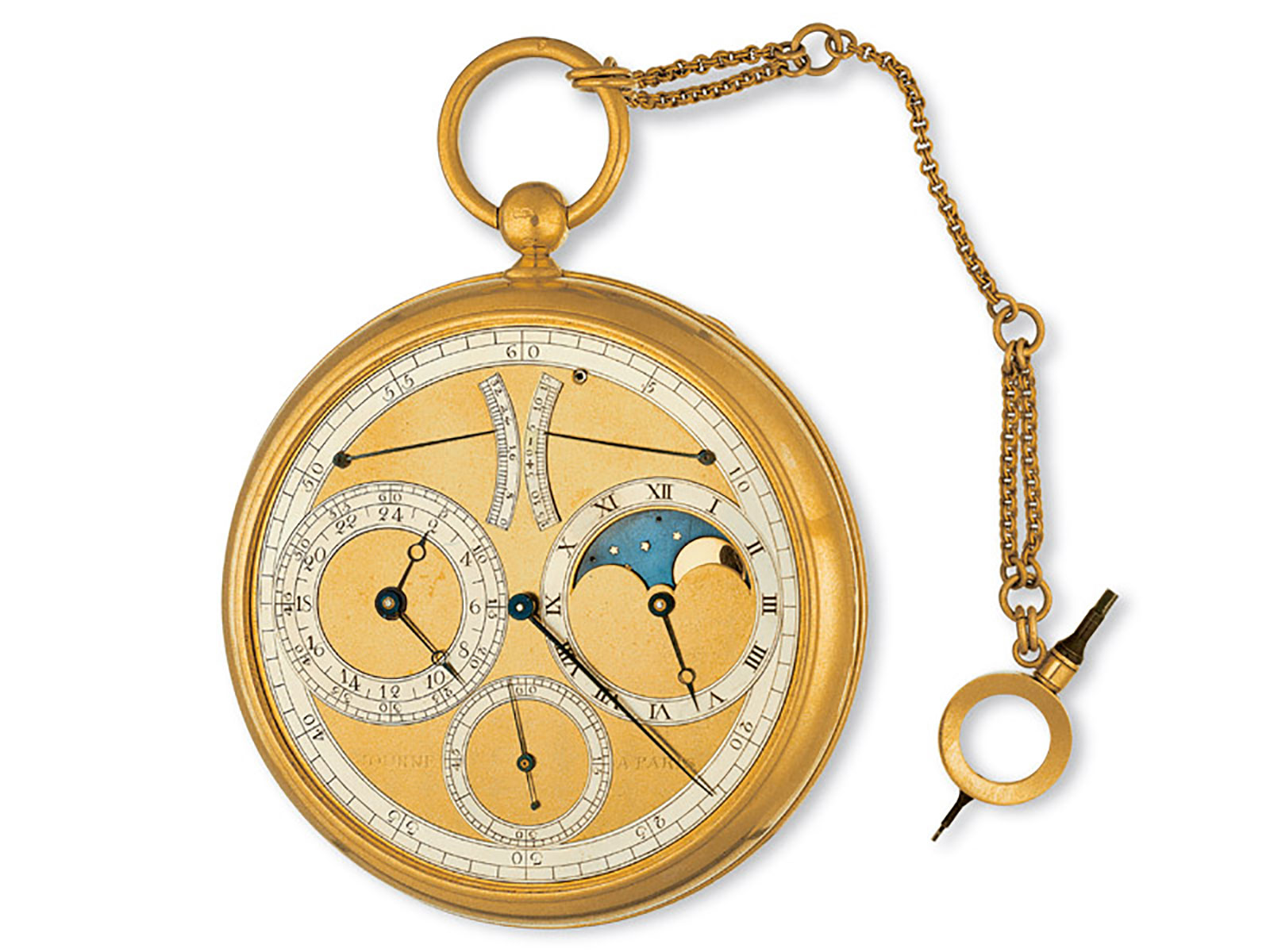 fp-journe astronomic planetary 1987 pocket watch